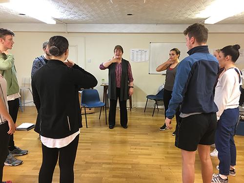 vocal technique group training